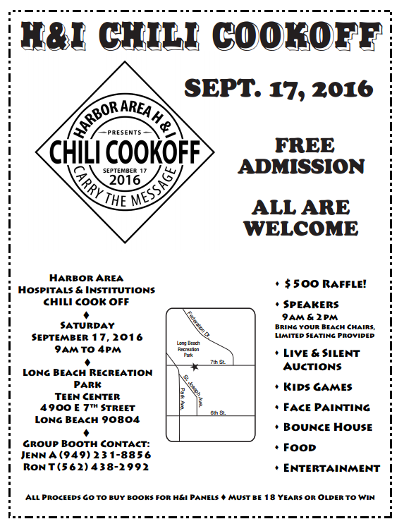 H & I Chili Cookoff 2016 Flyer