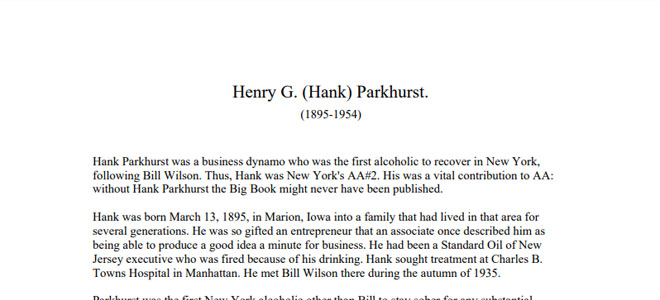 Hank Parkhurst