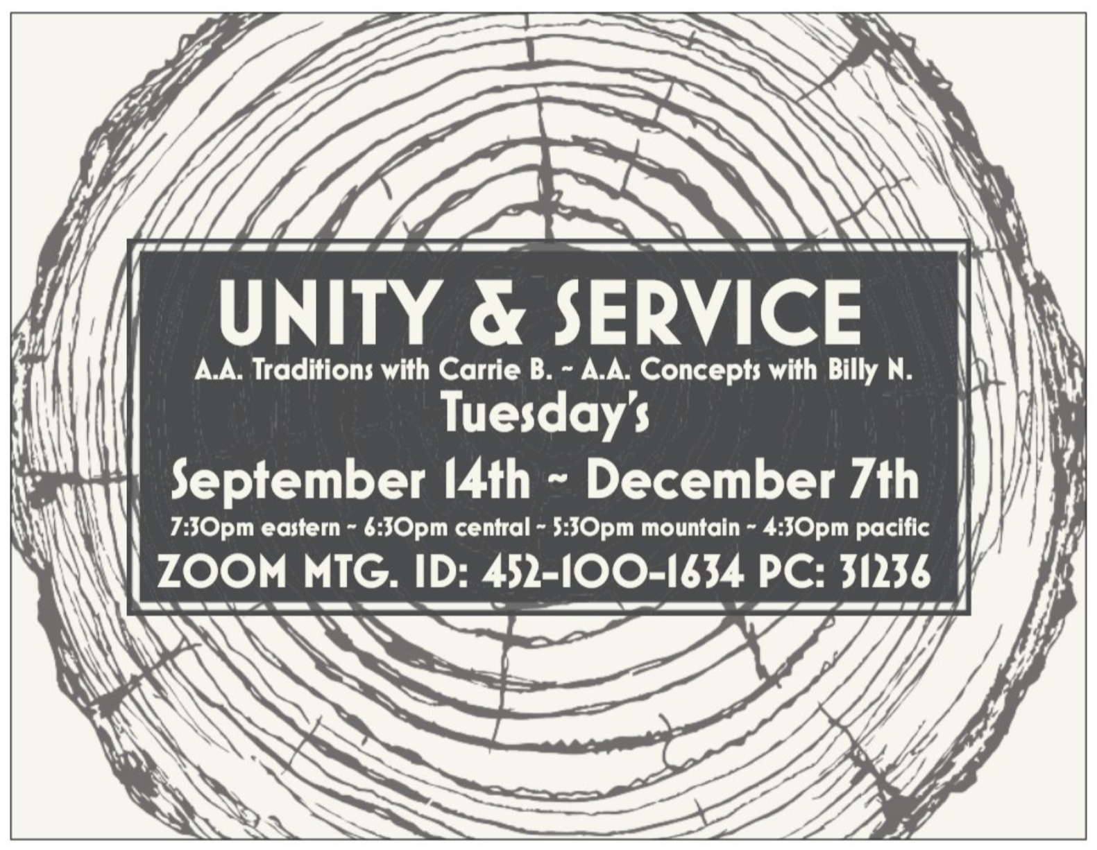 Unity and Service Flyer 2021